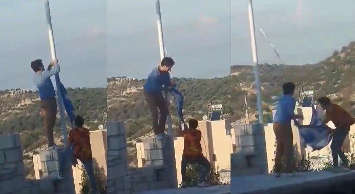 Eκτός ελέγχου οι Αλβανοί: Κατέβασαν την ελληνική σημαία στη Κρήτη – Την έσκισαν και μετά την πήραν και έφυγαν – Βίντεο-ντοκουμέντο