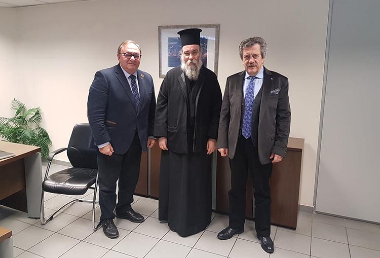 Συνάντηση του Δ. Καλογερόπουλου με τον  Μητροπολίτη Κισσάμου και Σελίνου κ. κ. Αμφιλόχιου