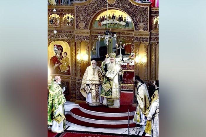 Ο Σεβ. Μητροπολίτης Νίκαιας και Αγίας Βαρβάρας κκ Αλέξιος χοροστάτησε την Κυριακή 3 Φεβρουαρίου στον Ιερο Ναο Προφητου Ηλιου