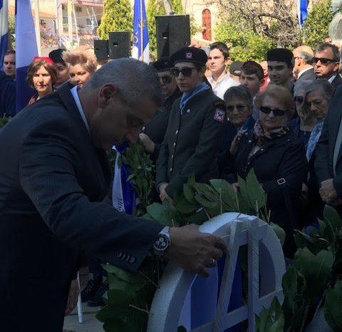 Αντώνης Κακούρης: Με σεβασμό και ευγνωμοσύνη τιμούμε τους ήρωες που θυσιάστηκαν για την λευτεριά της Πατρίδας μας