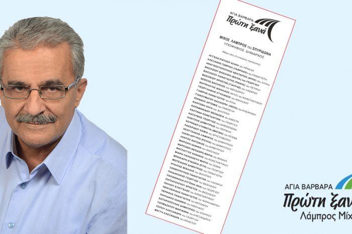 Αυτό είναι το ψηφοδέλτιο ΝΙΚΗΣ του ΛΑΜΠΡΟΥ ΜΙΧΟΥ