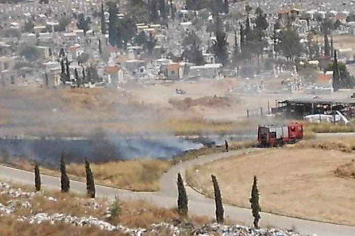 Η 6η φωτιά στην περιοχή του νεκροταφείου του Σχιστού