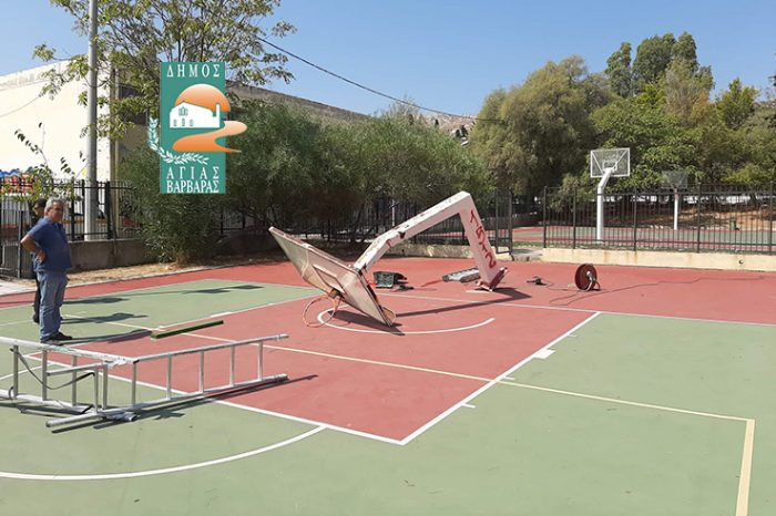 Απομάκρυνση επικίνδυνων μπασκετών από τους σχολικούς αύλειους χώρους