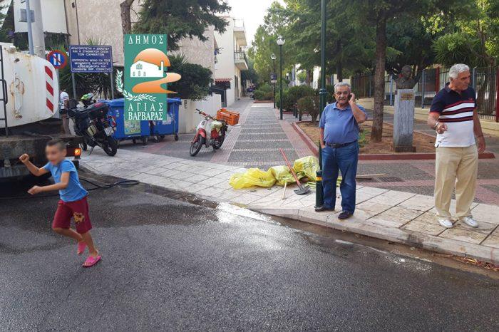 Φωτιά σε απορριμματοφόρο - Στο σημείο άμεσα ο δήμαρχος Λάμπρος Μίχος