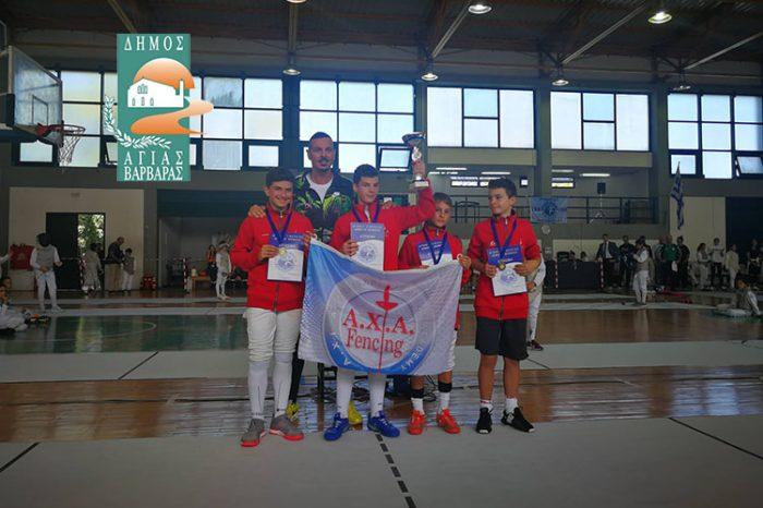 Η Ξιφασκία νέο άθλημα στα προγράμματα Μαζικού Αθλητισμού του δήμου Αγίας Βαρβάρας (φωτό, βίντεο)