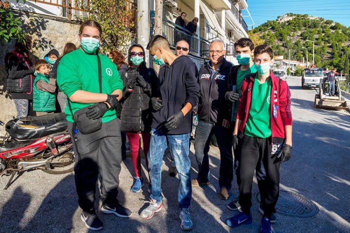 """Συμμετοχή του """"Πολυνίκη"""" στην εκδήλωση καθαρισμού του βουνού στο Πάνθεον που διοργάνωσε ο Δήμος Αγίας Βαρβάρας"""
