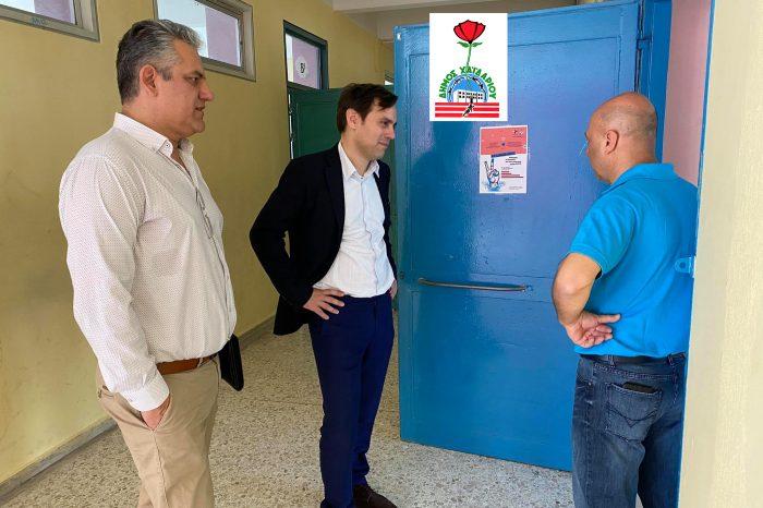 Επίσκεψη του Δημάρχου Χαϊδαρίου στα σχολεία που άνοιξαν