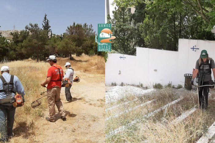 Καθαρίζονται τα ξερόχορτα στους χώρους, όπου η παρουσία τους μπορεί να προκαλέσει πυρκαγιά και συγκεντρώνει σκουπίδια