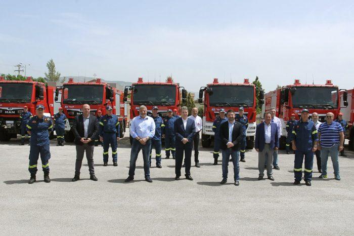 Γ. Πατούλης: «Ενισχύουμε το στόλο της πυροσβεστικής με κεντρικό στόχο μας την προστασία των πολιτών, του φυσικού περιβάλλοντος και την αποτελεσματικότερη πρόληψη των πυρκαγιών»