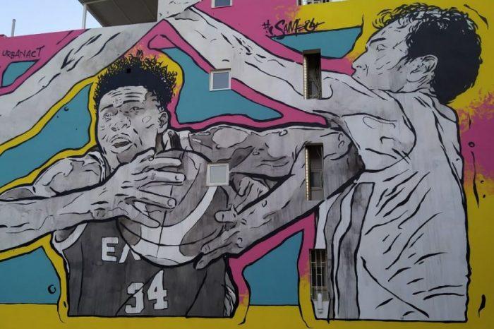Τα murals της UrbanAct και του Same84 αλλάζουν την Αγία Βαρβάρα