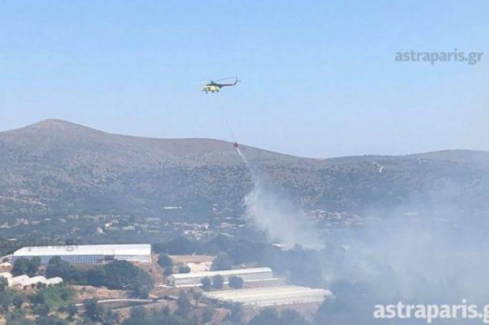 Σε εξέλιξη μεγάλη φωτιά στη Χίο - Εκκενώνονται χωριά