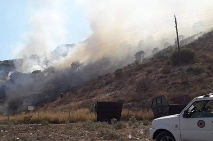Νέα φωτιά στο όρος Αιγάλεω