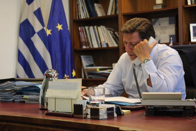 Τηλεφωνική επικοινωνία ΑΝΥΠΕΞ Μ. Βαρβιτσιώτη με τη Βρετανίδα Υφυπουργό Ευρωπαϊκής Γειτονίας W. Morton για την Ανατολική Μεσόγειο