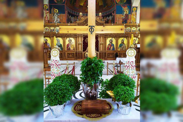Η εορτή της  Υψώσεως του Τιμίου και Ζωοποιού Σταυρού στον Ι.Ν. Προφήτη Ηλία