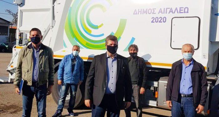 Δήμος Αιγάλεω: Παραλαβή νέου ηλεκτρικού σαρώθρου και απορριμματοφόρου