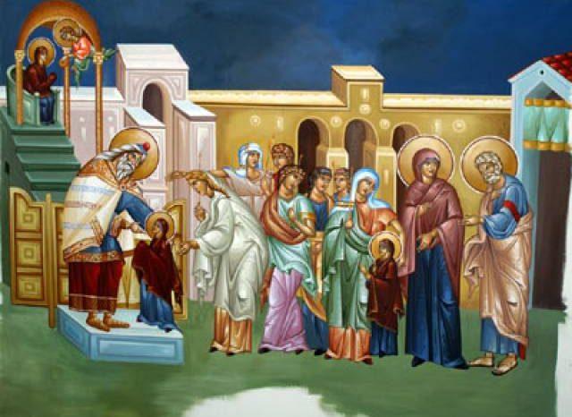 Ι.Ν. Προφήτη Ηλία: Η εορτή των Εισοδίων της Θεοτόκου