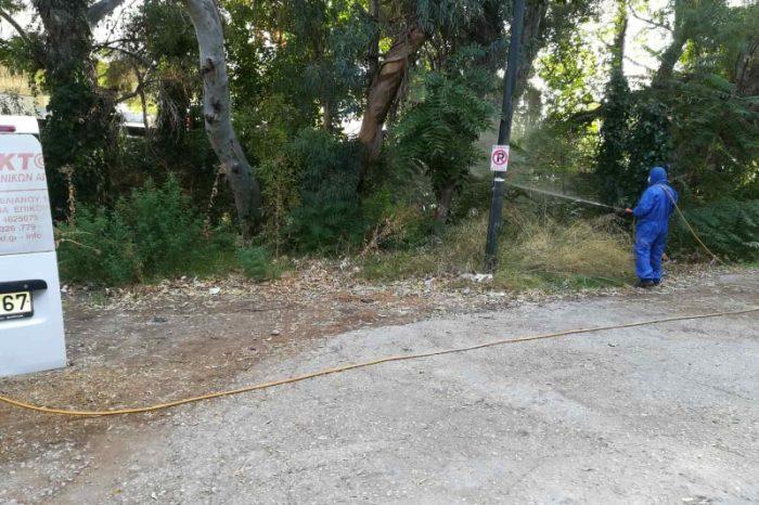 Εφαρμογή υπολειμματικών ψεκασμών για την καταπολέμηση κουνουπιών στην Περιφερειακή Ενότητα του Δυτικού Τομέα Αθηνών