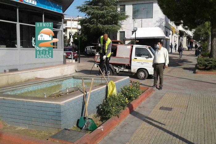 Καθαρίστηκαν τα σιντριβάνια της πόλης