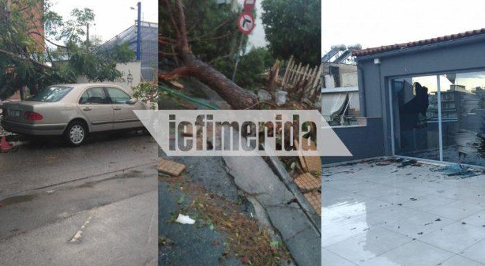 Σφοδρή καταιγίδα στην Αττική: 125 κλήσεις στην Πυροσβεστική, έπεσαν δέντρα, πλημμύρισαν καταστήματα -Ποιες περιοχές επλήγησαν