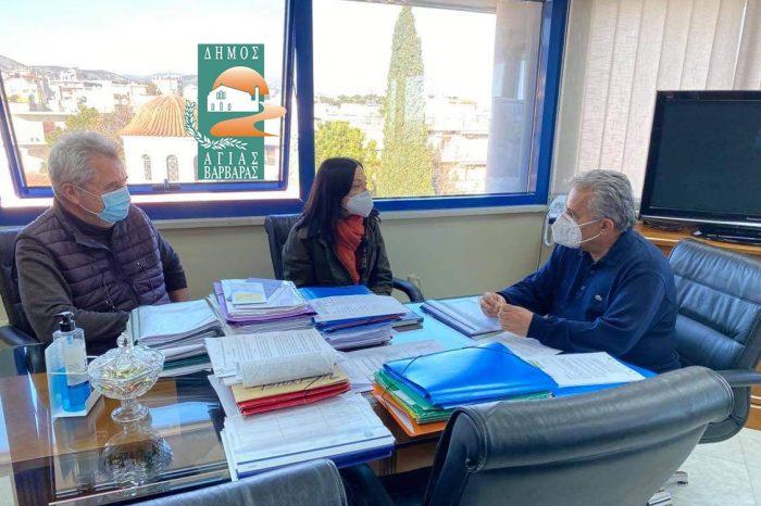Συνάντηση του Δημάρχου κ. Λάμπρου Μίχου με την βουλευτή ΚΙΝΑΛ, κ. Νάντια Γιαννακοπούλου
