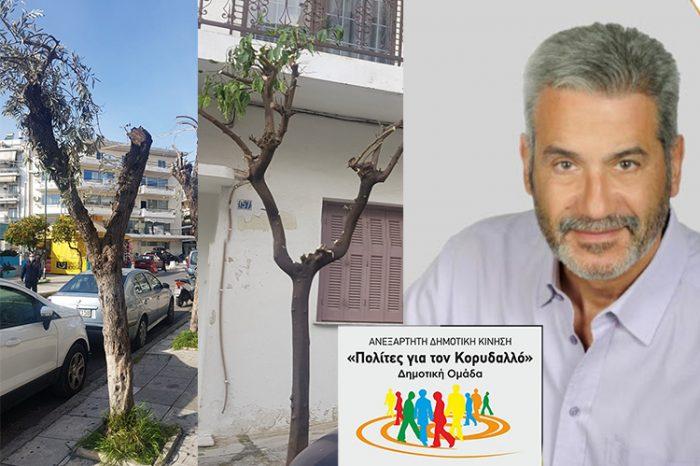 Πολίτες για τον Κορυδαλλό: Στον Κορυδαλλό «τα όμορφα δέντρα, άσκημα κόβονται»