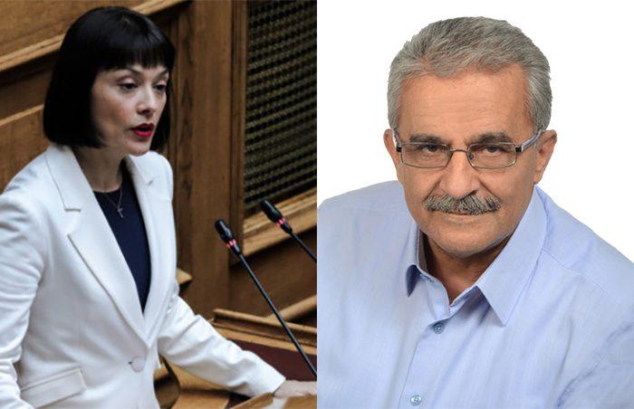 Μετά από συνάντηση με τον κ. Λάμπρο Μίχο, επικ. ερώτηση στη Βουλή για την διακοπή ηλεκτροδοτήσεως από την βουλευτή κ. Νάντια Γιαννακοπούλου