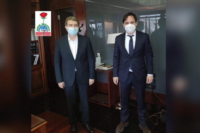 Συνάντηση του Δημάρχου Βαγγέλη Ντηνιακού με τον Υπουργό Προστασίας του Πολίτη Μιχάλη Χρυσοχοΐδη