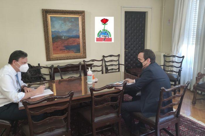 Συνάντηση του Δημάρχου Βαγγέλη Ντηνιακού με τον Υπουργό κ. Θεόδωρο Σκυλακάκη, αρμόδιο για το Εθνικό Σχέδιο Ανάκαμψης