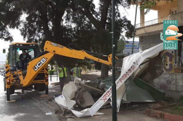 Μία εστία βρωμιάς και συσσώρευσης σκουπιδιών απομακρύνθηκε, μία «μουτζούρα» στην εικόνα της πόλης εξαφανίστηκε