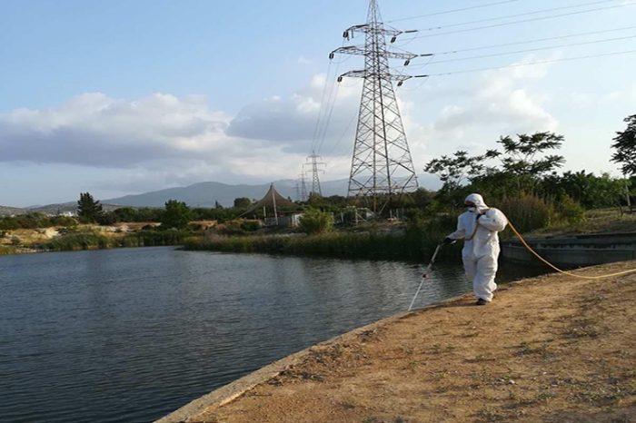 Εφαρμογή Προγράμματος «Καταπολέμησης κουνουπιών» μέσω ψεκασμών προνυμφοκτονίας στην Π.Ε. του Δυτικού Τομέα Αθηνών