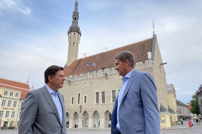 Συνάντηση Αναπληρωτή Υπουργού Εξωτερικών Μιλτιάδη Βαρβιτσιώτη με τον Υφυπουργό Ευρωπαϊκών Υποθέσεων της Εσθονίας Märt Volmer