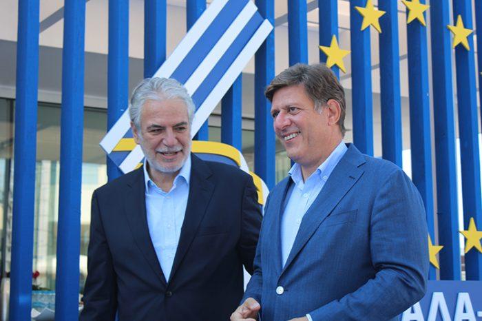 Ο Αναπληρωτής Υπουργός Εξωτερικών Μ. Βαρβιτσιώτης στα εγκαίνια της Διεθνούς Έκθεσης Θεσσαλονίκης