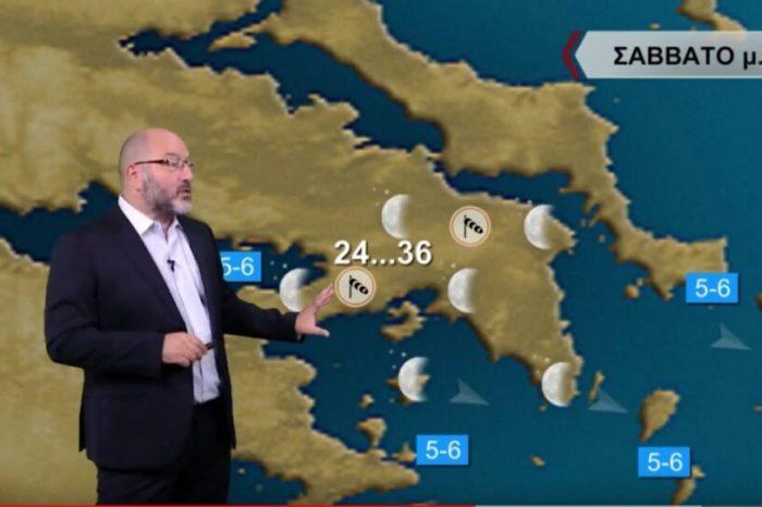 Αρναούτογλου-καιρός: Προετοιμαστείτε για λίβα & σκόνη -SOS πάλι για πυρκαγιές (βίντεο)