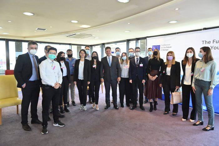 Εκδήλωση «Let's Listen to the Future»: Διάλογος με νέους φοιτητές στο πλαίσιο της Διάσκεψης για το Μέλλον της Ευρώπης